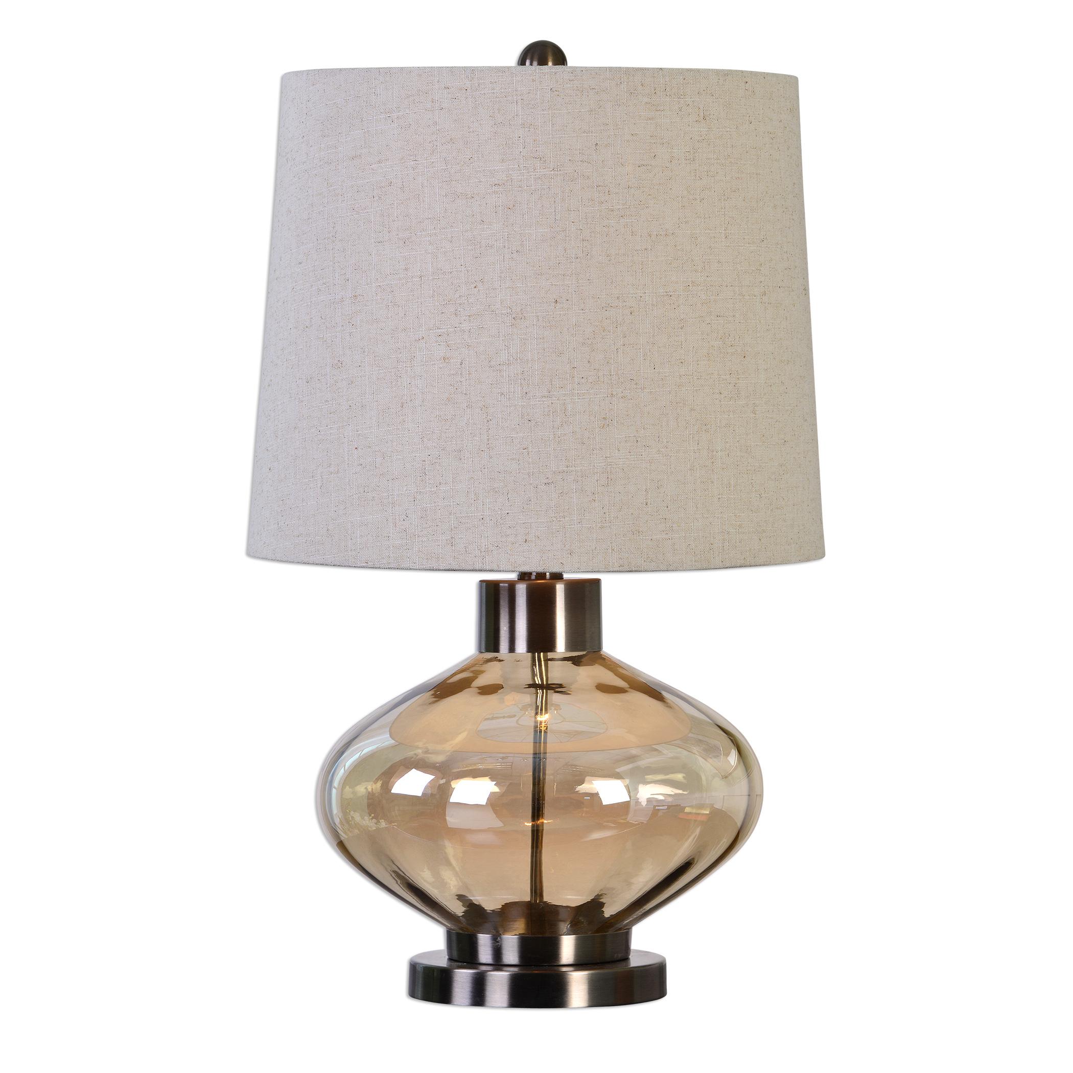 Sava Amber Glass Lamp