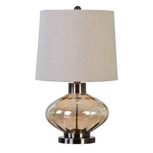 Uttermost Lamps Sava Amber Glass Lamp