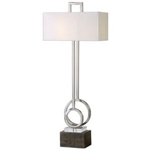 Uttermost Lamps Deshka Brushed Nickel Table Lamp