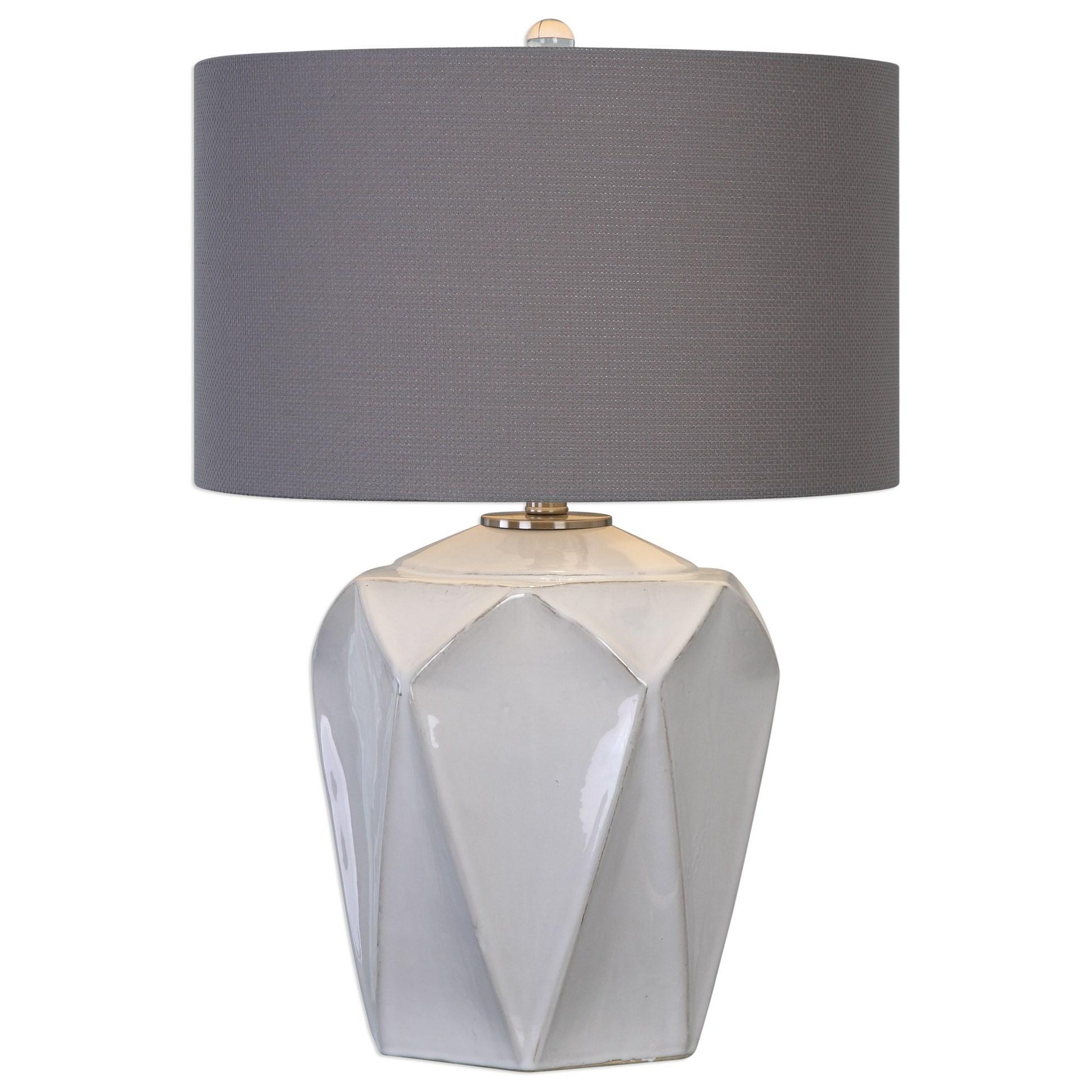 Elvilar Gloss White Table Lamp