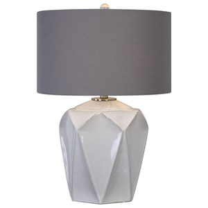 Elvilar Gloss White Table Lamp