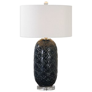 Uttermost Lamps  Kallithea Deep Blue Table Lamp