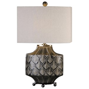 Uttermost Lamps  Kavala Crackled Charcoal Lamp
