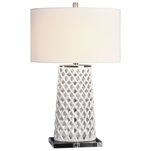 Dania White Table Lamp