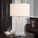 Uttermost Lamps  Dania White Table Lamp