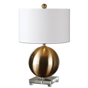 Uttermost Lamps Laton Brass Sphere Table Lamp