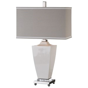 Uttermost Lamps  Rochelle White Glaze Table Lamp