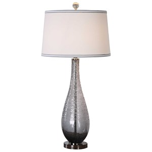 Uttermost Lamps Serano Gray Glass Table Lamp