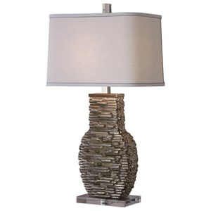 Uttermost Lamps Clavin Stack Textured Table Lamp