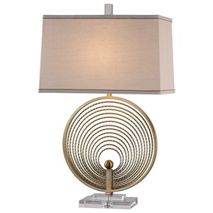Uttermost Lamps Petrelli Iron Ring Table Lamp