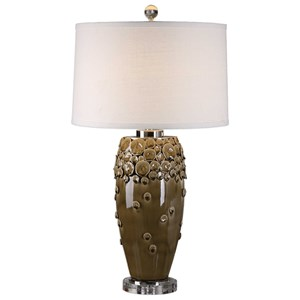Uttermost Lamps Zacapa Brown Ceramic Table Lamp