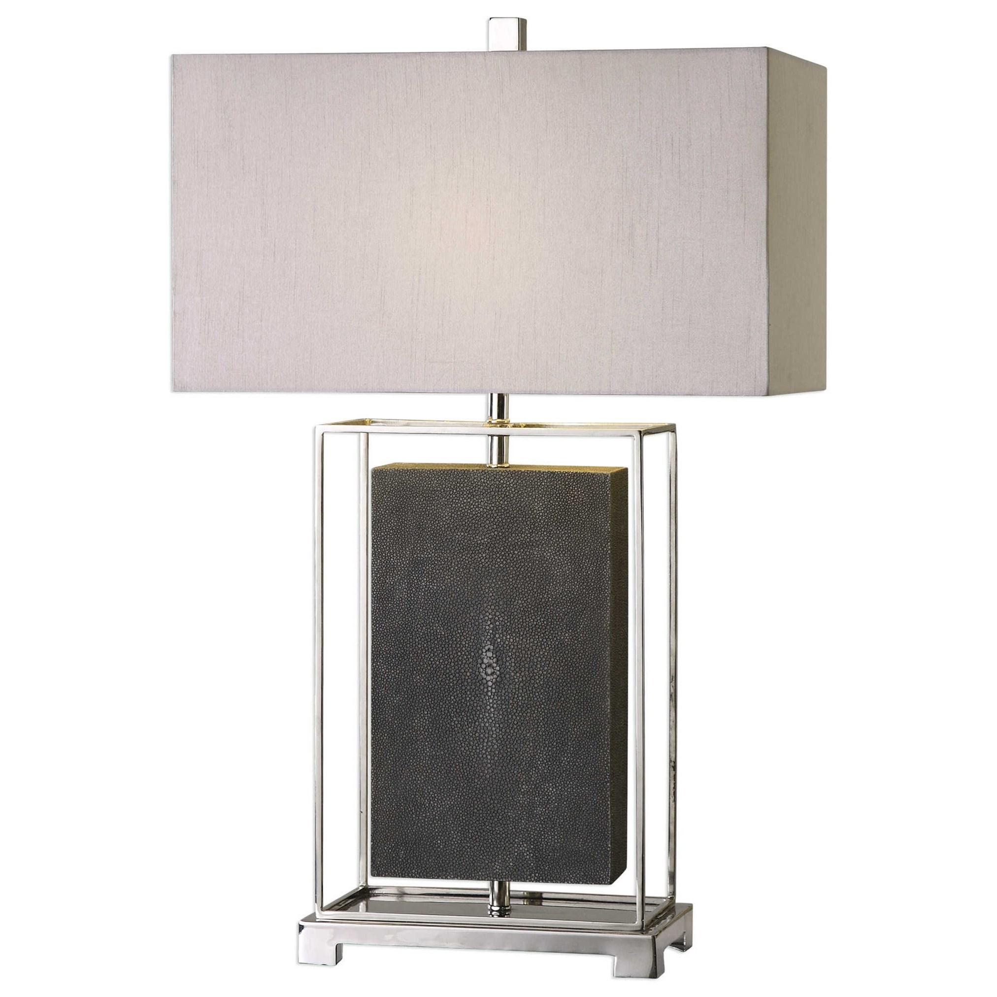 Sakana Gray Textured Table Lamp