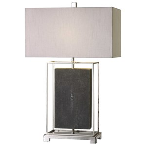 Uttermost Lamps Sakana Gray Textured Table Lamp