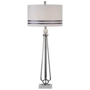 Uttermost Lamps Jamanda Steel Rod Table Lamp