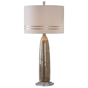 Uttermost Lamps Dima Light Brown Ceramic Lamp