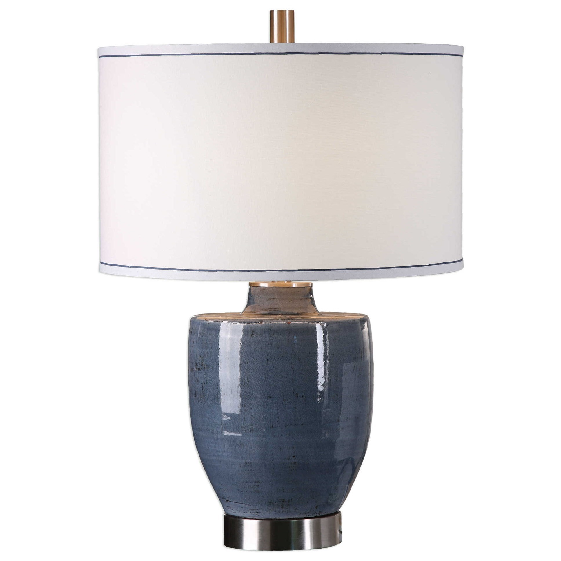 Sylvaine Blue-Gray Glaze Lamp