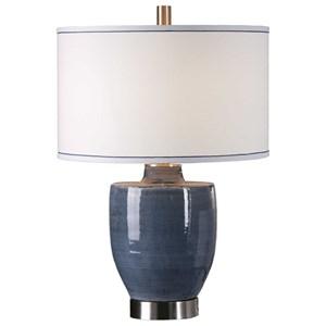 Uttermost Lamps Sylvaine Blue-Gray Glaze Lamp