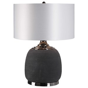 Uttermost Lamps Charna Charcoal Ceramic Table Lamp