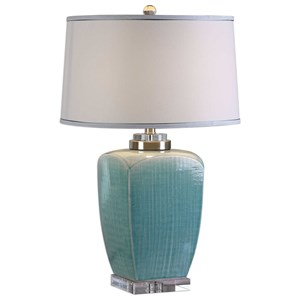 Uttermost Lamps Linnae Light Blue Table Lamp