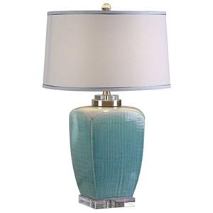 Uttermost Lamps Linnae Light Blue Table Lamp