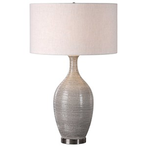Dinah Gray Textured Table Lamp