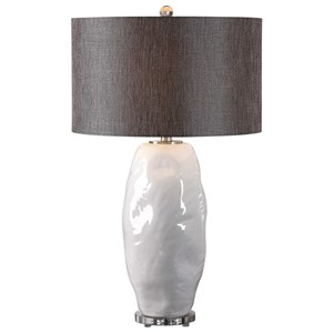 Uttermost Lamps Assana Gloss White Table Lamp