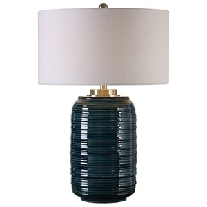 Uttermost Lamps Delane Dark Teal Table Lamp