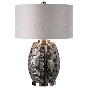 Uttermost Lamps Aura Ash Black Glaze Lamp