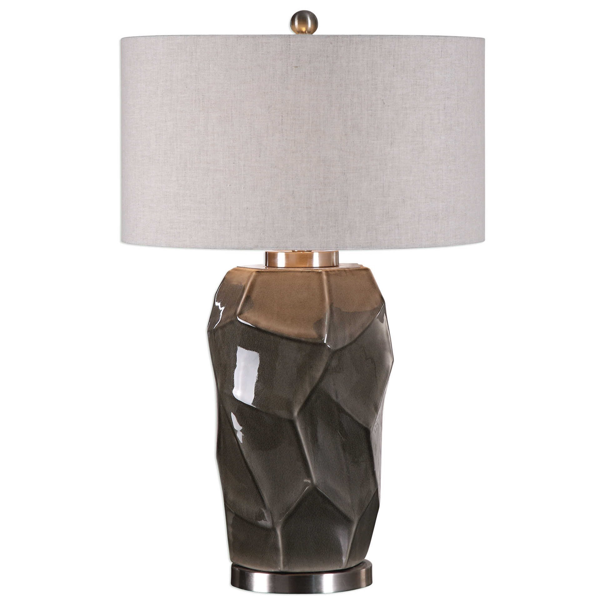 Crayton Crackled Gray Table Lamp