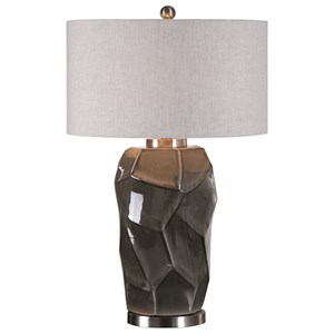 Uttermost Lamps Crayton Crackled Gray Table Lamp