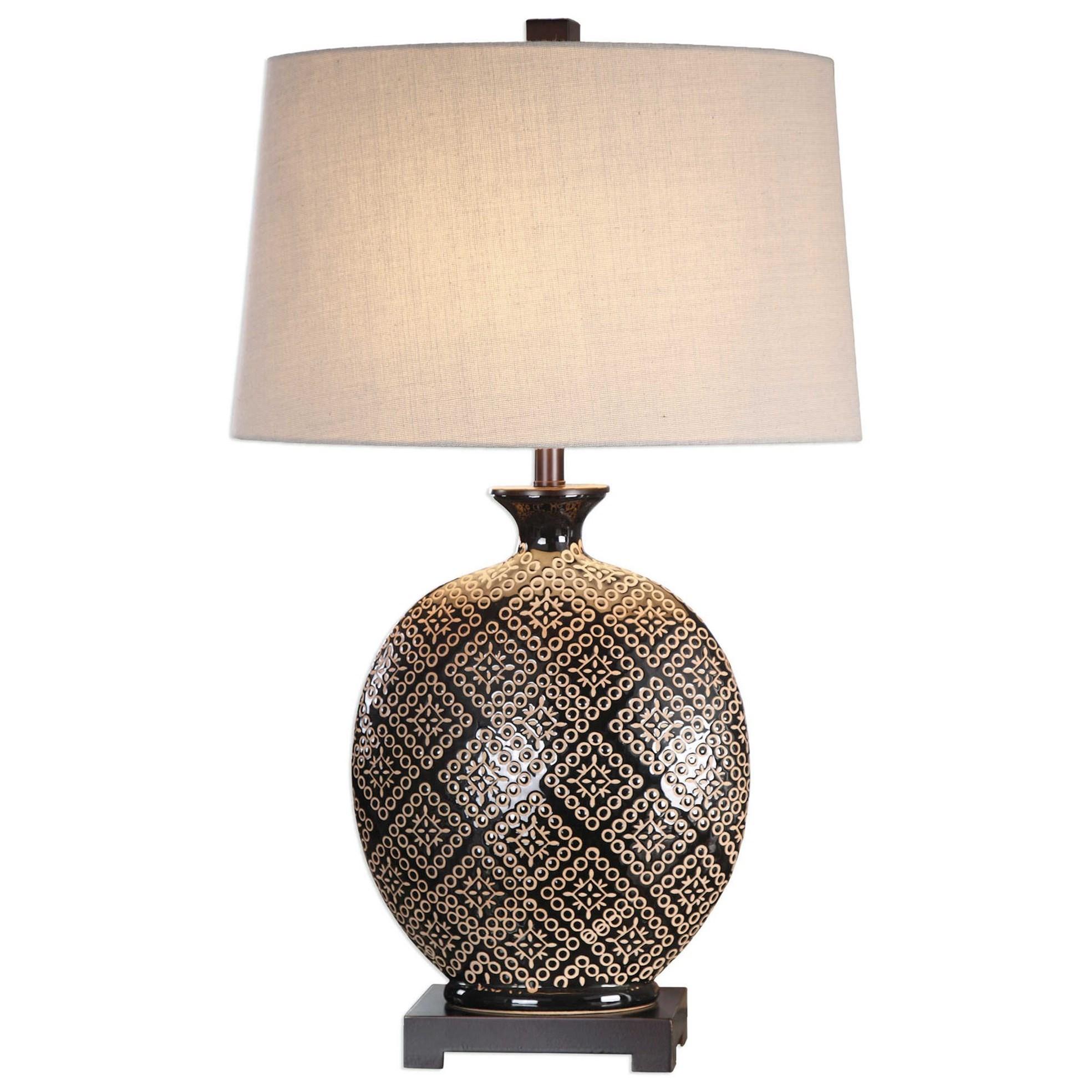 Kelda Gloss Black Glazed Lamp