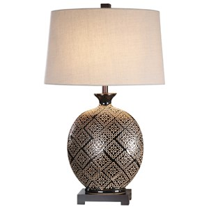 Kelda Gloss Black Glazed Lamp