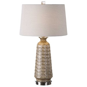 Uttermost Lamps Belser Brown Glaze Table Lamp