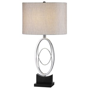 Uttermost Lamps Savant Polished Nickel Table Lamp