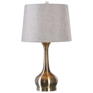 Uttermost Lamps Balle Antiqued Brass Table Lamp