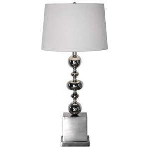 Uttermost Lamps Petrina Nickel Table Lamp