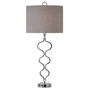 Serpico Polished Nickel Table Lamp