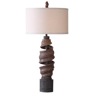 Uttermost Lamps Abrose Twisted Table Lamp