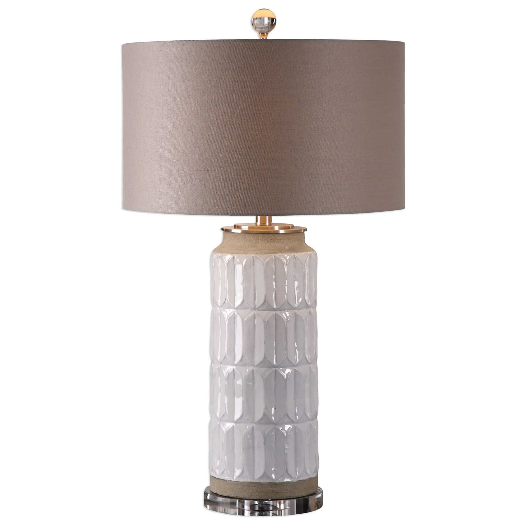 Athilda Gloss White Table Lamp