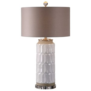 Uttermost Lamps Athilda Gloss White Table Lamp