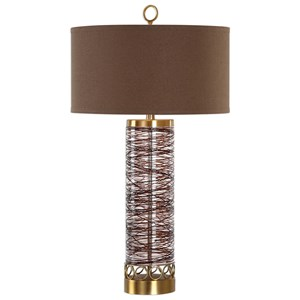 Uttermost Lamps Seaver Spun Glass Table Lamp