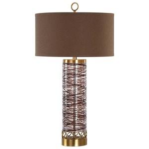 Uttermost Lamps Seaver Spun Glass Table Lamp