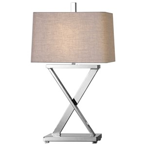 Uttermost Lamps Xavier Nickel Table Lamp