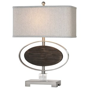Uttermost Lamps Malik Wood Oval Lamp