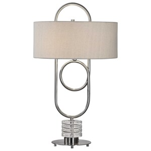 Uttermost Lamps Vaaler Brushed Nickel Table Lamp