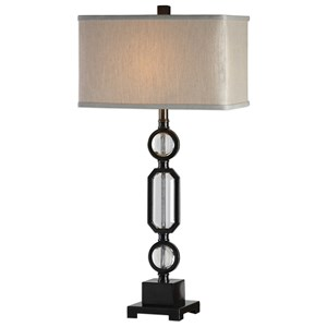 Uttermost Lamps Jugovo Bronze & Crystal Lamp