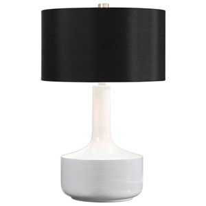 Uttermost Lamps Drenova Modern White Table Lamp