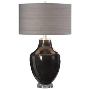 Uttermost Lamps Vrana Dark Gray Table Lamp