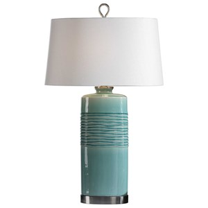 Uttermost Lamps Rila Distressed Teal Table Lamp