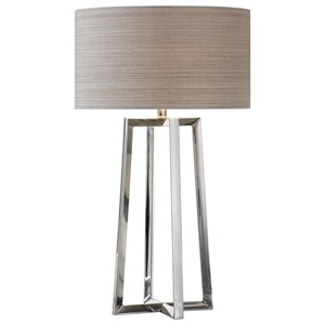 Uttermost Lamps Keokee Stainless Steel Table Lamp